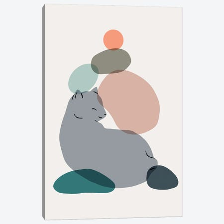 Cat Landscape LX Canvas Print #LHS58} by Lim Heng Swee Art Print