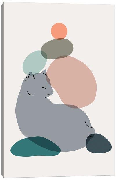 Cat Landscape LX Canvas Art Print
