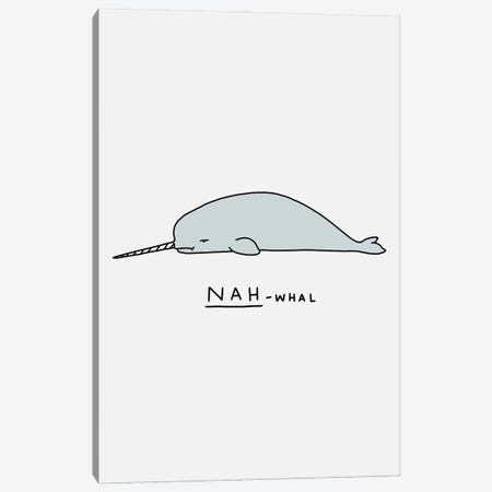 Moody Animals: Narwhal Canvas Print #LHS72} by Lim Heng Swee Art Print