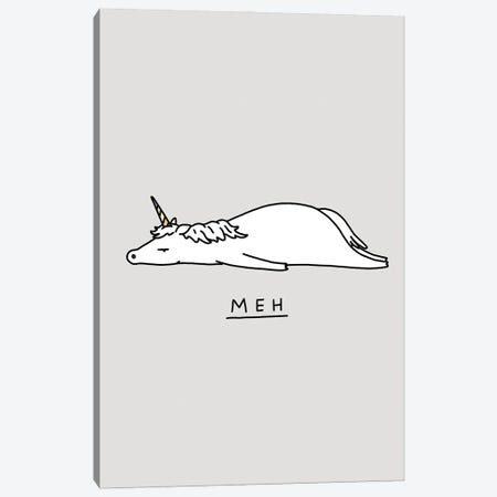 Moody Animals: Unicorn Canvas Print #LHS74} by Lim Heng Swee Canvas Wall Art