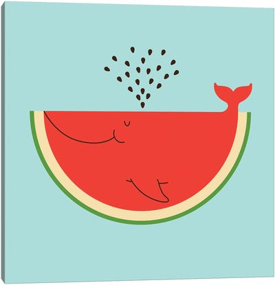 Whalemelon Canvas Art Print