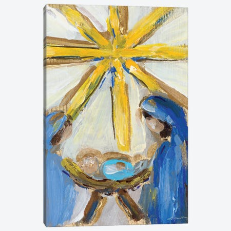 O Holy Night Canvas Print #LHW10} by L. Hewitt Art Print