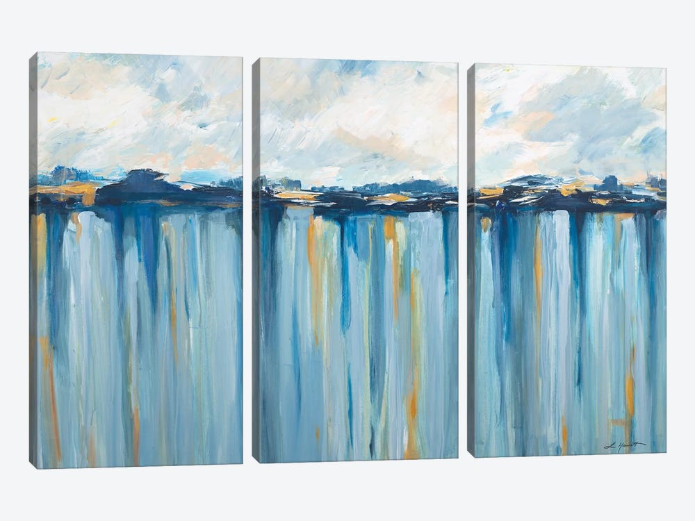 Ocean Blues by L. Hewitt 3-piece Canvas Art Print