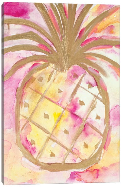 Pink Gold Pineapple Canvas Art Print