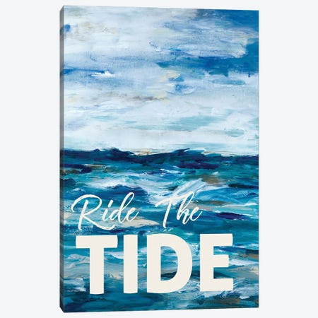 Ride The Tide Canvas Print #LHW13} by L. Hewitt Art Print