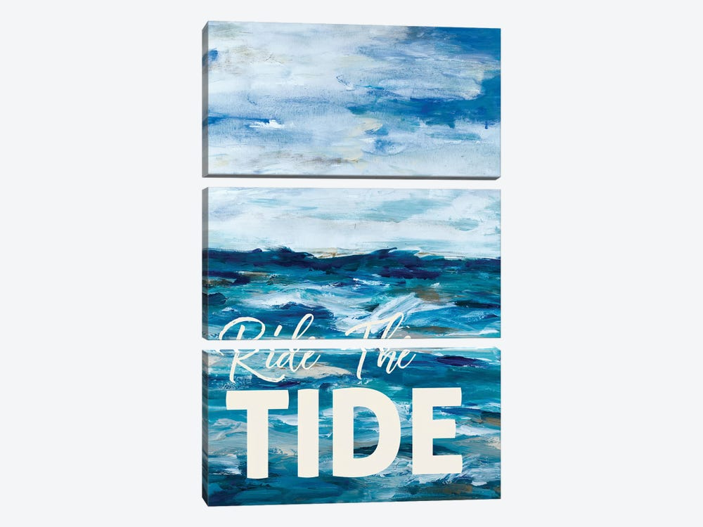 Ride The Tide by L. Hewitt 3-piece Canvas Print