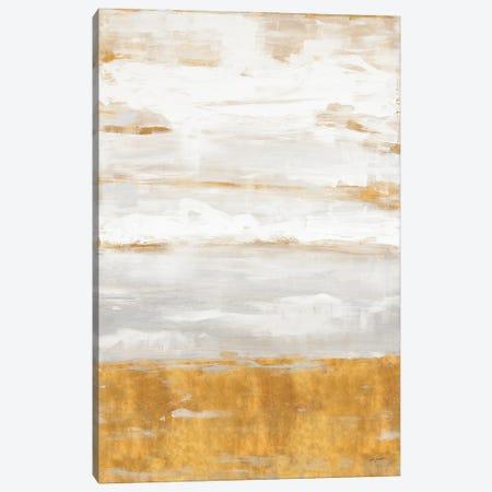 Golden Land Abstract Canvas Print #LHW25} by L. Hewitt Canvas Art Print