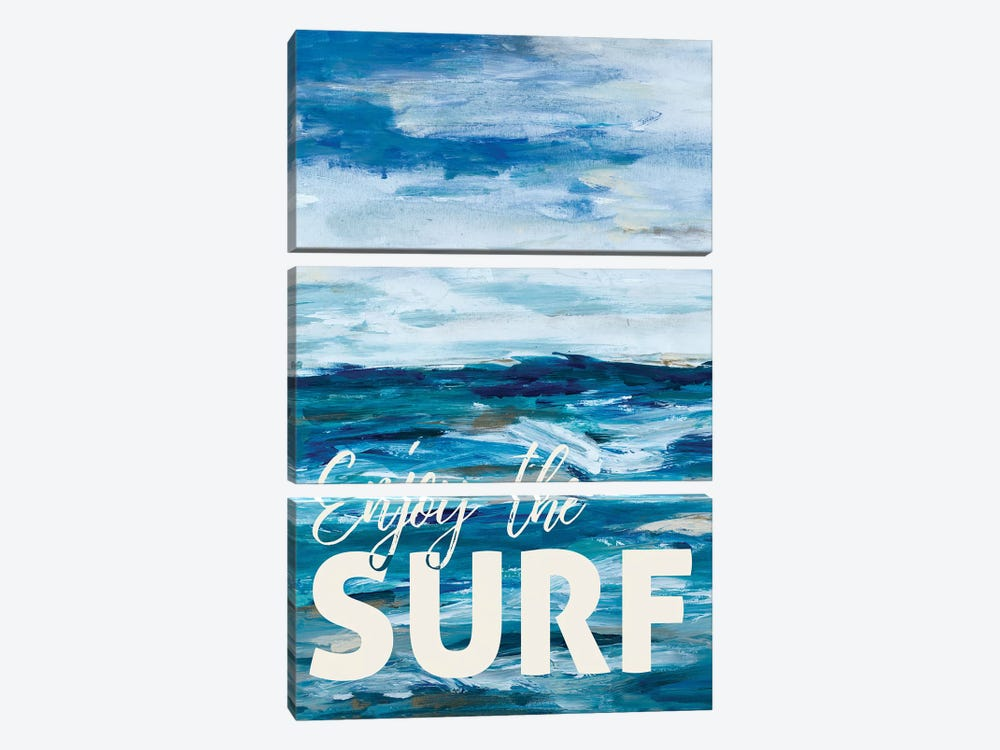 Enjoy The Surf by L. Hewitt 3-piece Canvas Artwork