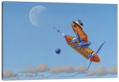 Fly Me To The Moon Canvas Art Print