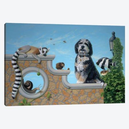 Kudzu And Friends Canvas Print #LHZ12} by Linda Ridd Herzog Canvas Artwork