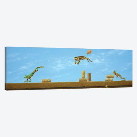 Leaping Frogs Canvas Print #LHZ13} by Linda Ridd Herzog Canvas Art