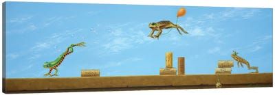 Leaping Frogs Canvas Art Print