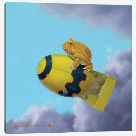 Pacman Fat Man Canvas Print #LHZ17} by Linda Ridd Herzog Canvas Art Print