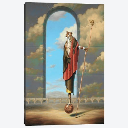 Monty Ridd Cheetah The Visionary Canvas Print #LHZ32} by Linda Ridd Herzog Canvas Artwork