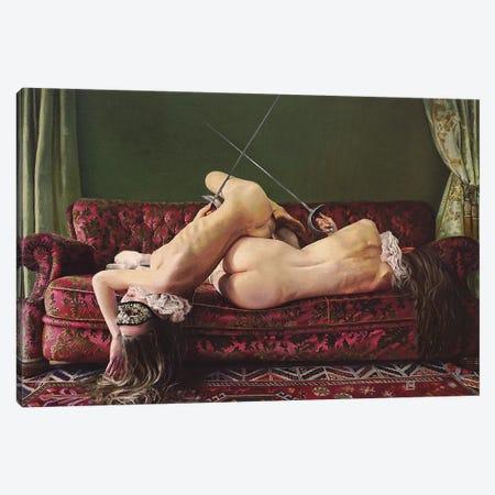 The Duel Canvas Print #LIA13} by Linda Adair Canvas Artwork