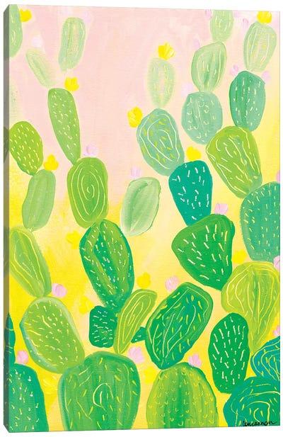 Cotton Candy Cactus Canvas Art Print