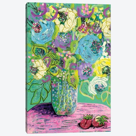 Strawberry Crush Canvas Print #LIC41} by Lisa Concannon Canvas Art Print