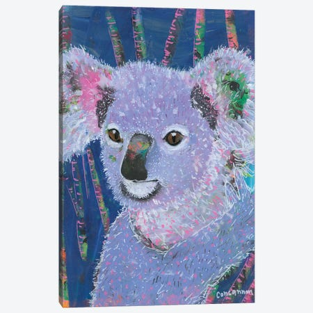 Koala -- Lavendar Canvas Print #LIC42} by Lisa Concannon Art Print