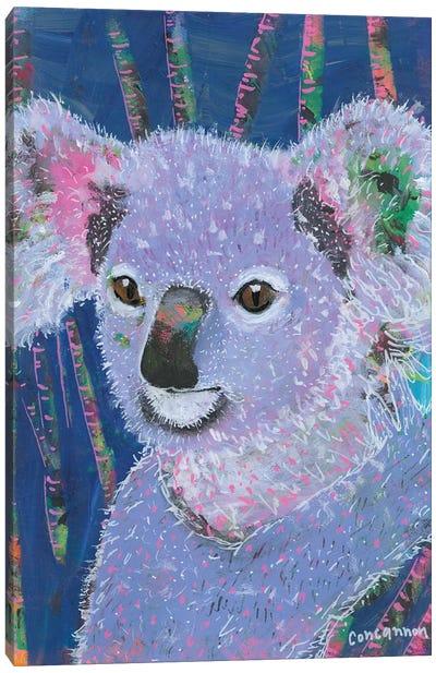 Koala -- Lavendar Canvas Art Print