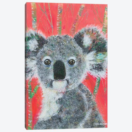 Koala -- Vermillion Canvas Print #LIC43} by Lisa Concannon Art Print