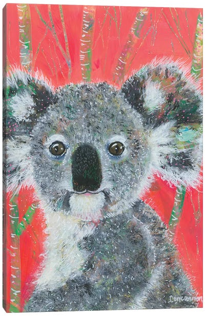 Koala -- Vermillion Canvas Art Print