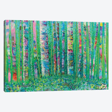 Aspens Over Eclipse Canvas Print #LIC5} by Lisa Concannon Canvas Artwork
