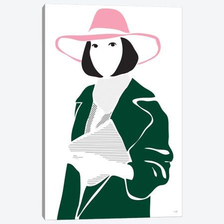 Girl In A Hat Canvas Print #LIG13} by Linda Gobeta Canvas Art