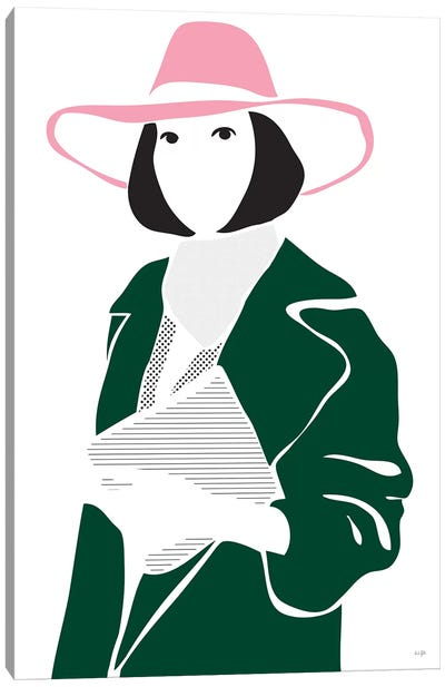 Girl In A Hat Canvas Art Print