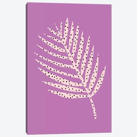 Palm Leaf In Purple Canvas Print #LIG24} by Linda Gobeta Canvas Art