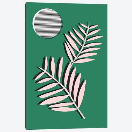 Palm Leaves In Moonlight Canvas Print #LIG26} by Linda Gobeta Canvas Art