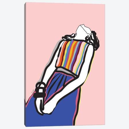 Relaxed Girl Canvas Print #LIG29} by Linda Gobeta Canvas Print