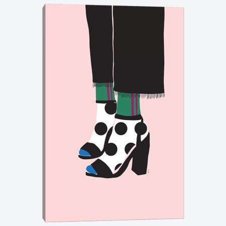 Socks And Heels Canvas Print #LIG31} by Linda Gobeta Canvas Wall Art