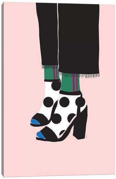 Socks And Heels Canvas Art Print