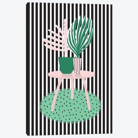Stripy Interior Canvas Print #LIG35} by Linda Gobeta Art Print
