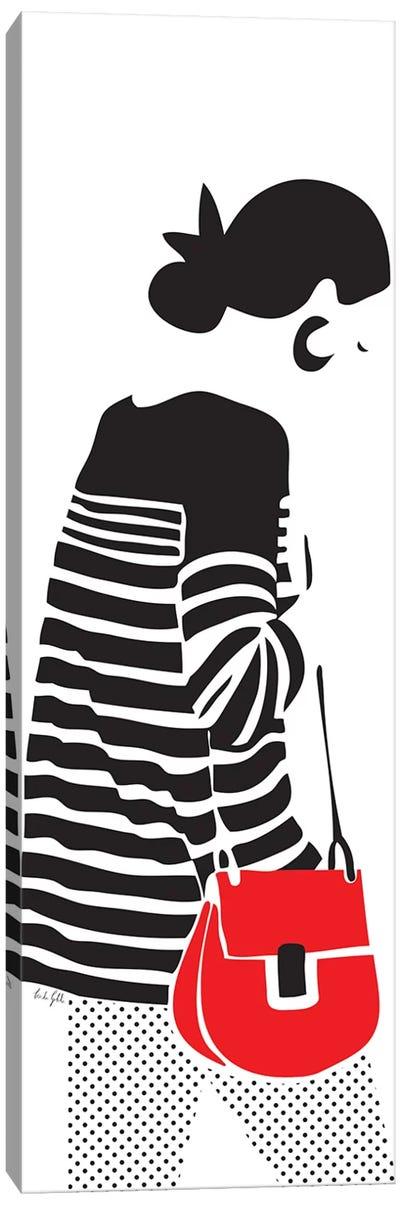 Stripy Parisian Canvas Art Print