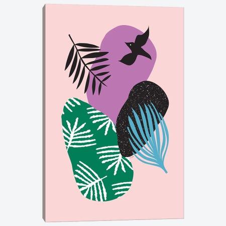 Tropical Birds In Pink Canvas Print #LIG40} by Linda Gobeta Canvas Art Print
