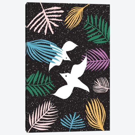 Birds Of Paradise Canvas Print #LIG6} by Linda Gobeta Canvas Wall Art