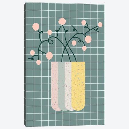Flower Vase Canvas Print #LIG9} by Linda Gobeta Canvas Art Print