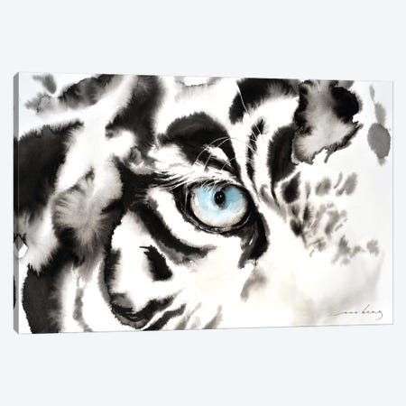 Tiger Look Canvas Print #LIM103} by Soo Beng Lim Art Print