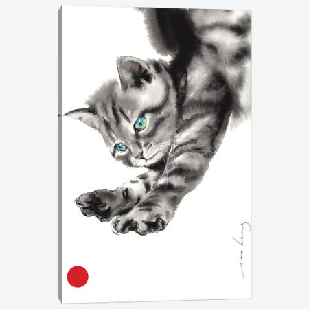 To Catch a Ball Canvas Print #LIM104} by Soo Beng Lim Canvas Wall Art