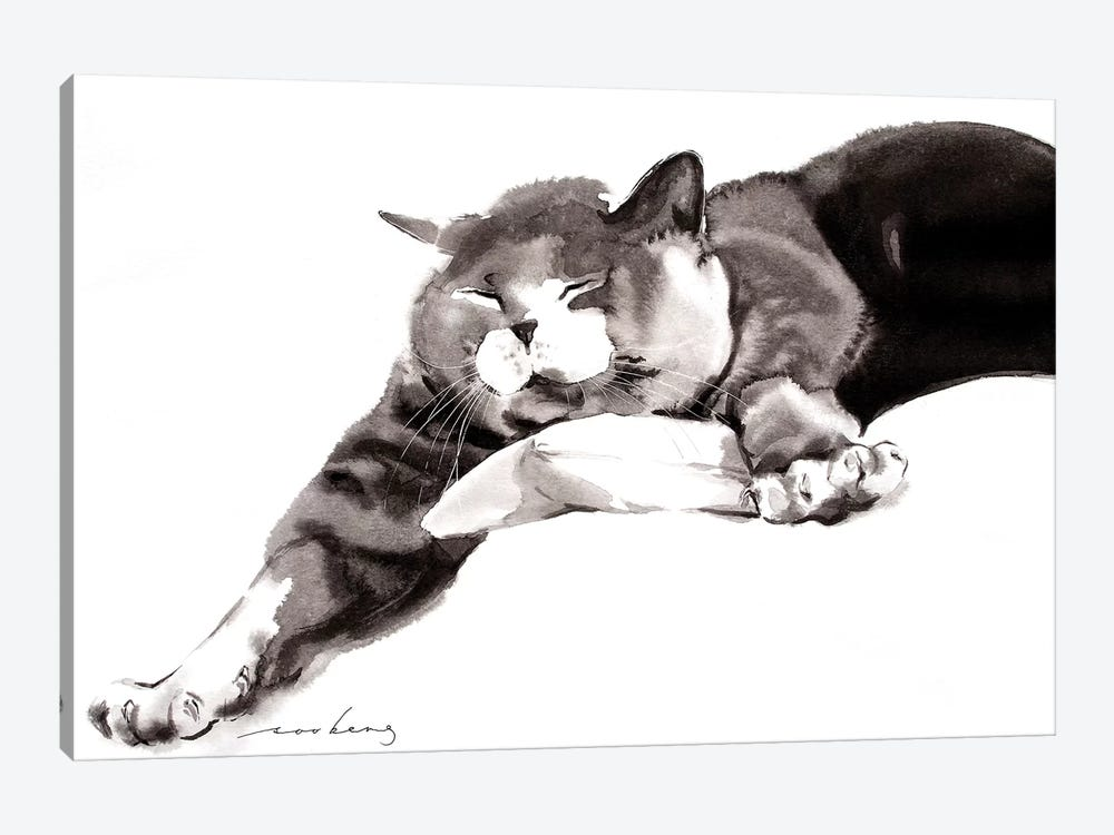 Waking Stretch by Soo Beng Lim 1-piece Canvas Print