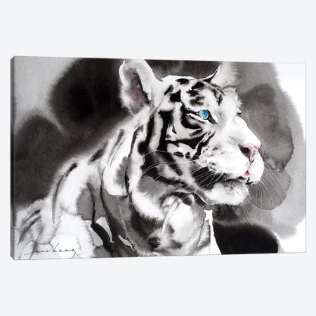 White Tiger I Canvas Print #LIM109} by Soo Beng Lim Canvas Print