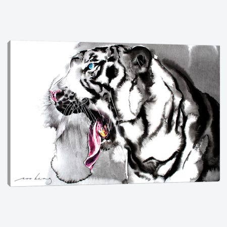 White Tiger II Canvas Print #LIM110} by Soo Beng Lim Canvas Artwork
