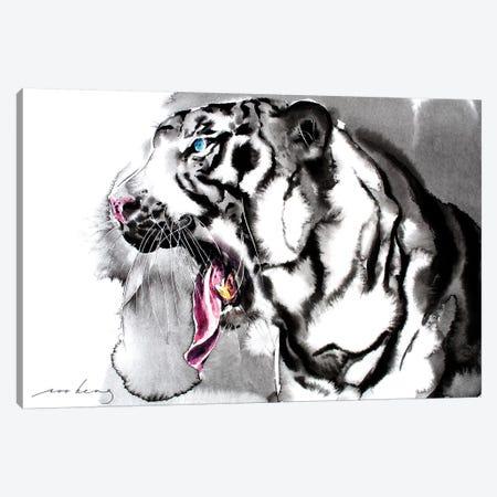 White Tiger II Canvas Print #LIM110} by Soo Beng Lim Canvas Artwork