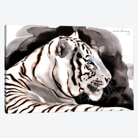 White Tiger IV Canvas Print #LIM111} by Soo Beng Lim Canvas Artwork