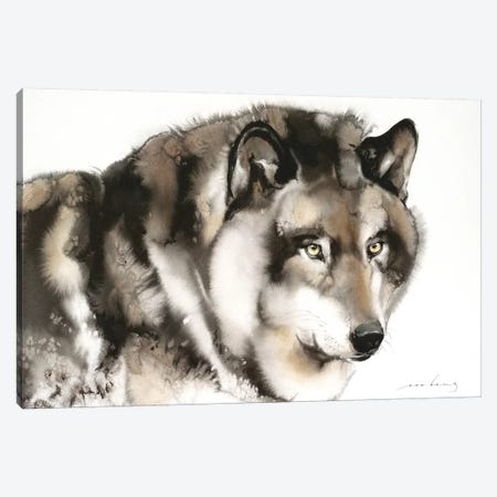 Wolf I Canvas Print #LIM112} by Soo Beng Lim Canvas Artwork