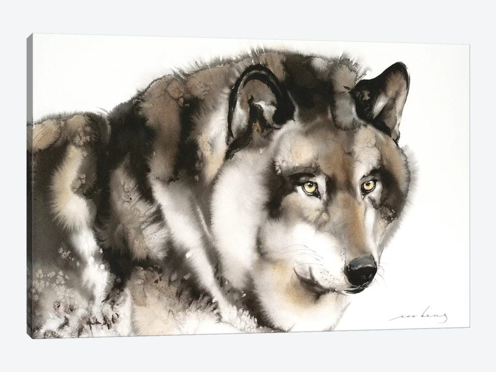 Wolf I by Soo Beng Lim 1-piece Canvas Artwork