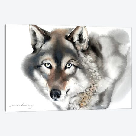 Wolf II Canvas Print #LIM113} by Soo Beng Lim Canvas Wall Art