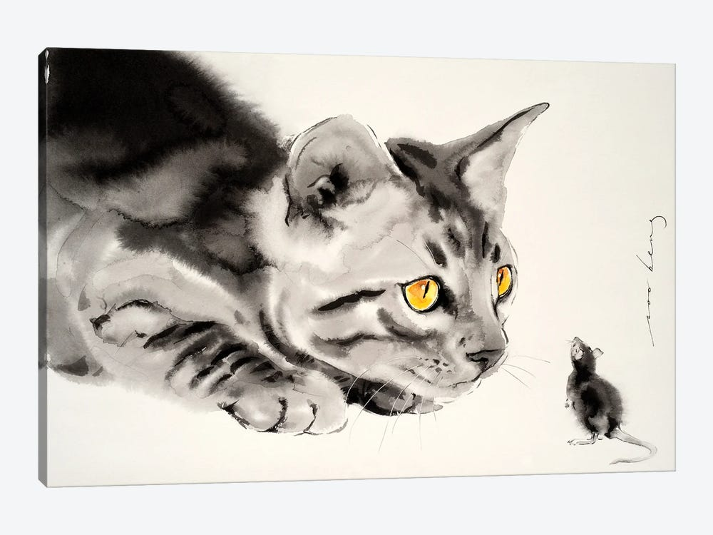 Cat And Mouse by Soo Beng Lim 1-piece Canvas Art Print