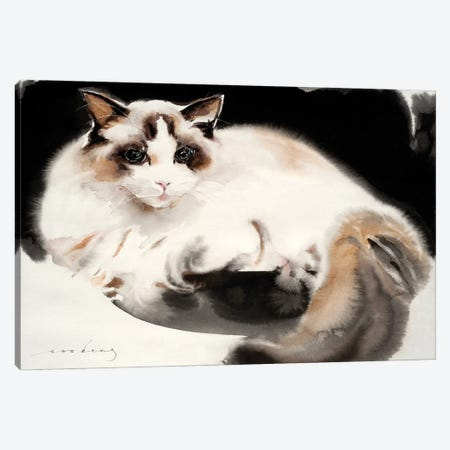 Cat Contentment Canvas Print #LIM125} by Soo Beng Lim Canvas Art